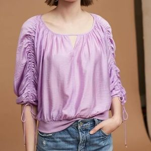 NWT ANTHROPOLOGIE Maeve Calluna Tied Sleeve Blouse